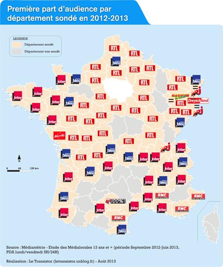L'atlas de l'audience radio en France (2) dans Actualité letransistor_aout2013_carte-medialocales-pda-departements_2012-2013_petite